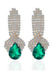 Faux Crystal Rhinestoned Drop Earrings