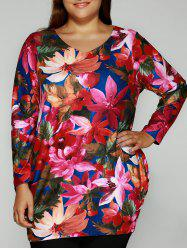Flowers Print Skinny Mini Dress