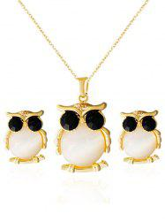 Faux Opal Owl Shape Jewelry Set