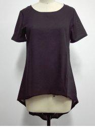 Asymmetrical Plain T-Shirt -