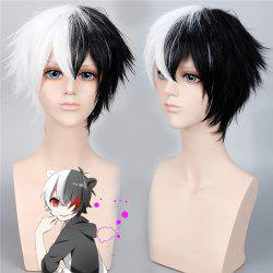 Danganronpa	Monokuma Fluffy Short Straight Piano Color Synthetic Cosplay Wig