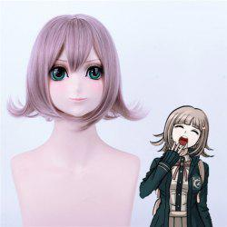 Danganronpa	Nanami ChiaKi Meidum Anti Alice Hair Synthetic Cosplay Wig - DEEP PURPLE