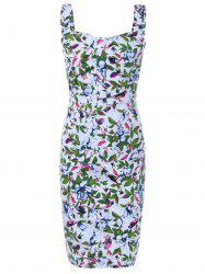 Vintage Style Floral Pencil Dress
