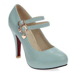 Platform Mary Jane Pumps - AZURE