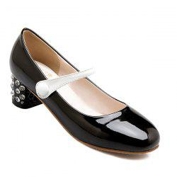 Paillettes Cover Heel Color Block Pompes - Noir
