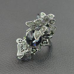 Hollow Rhinestone Butterfly Finger Ring