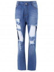 Distressed Pocket Design Jeans -