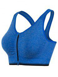 Genie Padded Racerback Zipper Front Running Sports Bra