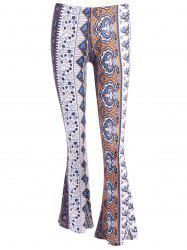 Floral Bell Bottoms Printed Pants -