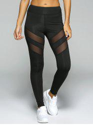 Leggings transparents de sport - Noir