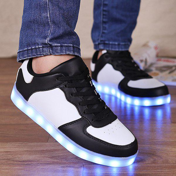 Chic Led Luminous Lights Up Colour Splicing Casual Shoes