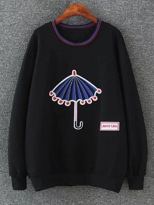 Unique Drop Shoulder Embrioidered Sweatshirt