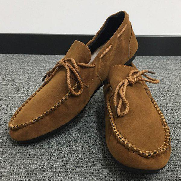 Store Concise Suede and Solid Color Design Casual Shoes For Men