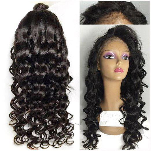 Unique Long Wavy Lace Front High Temperature Fiber Wig