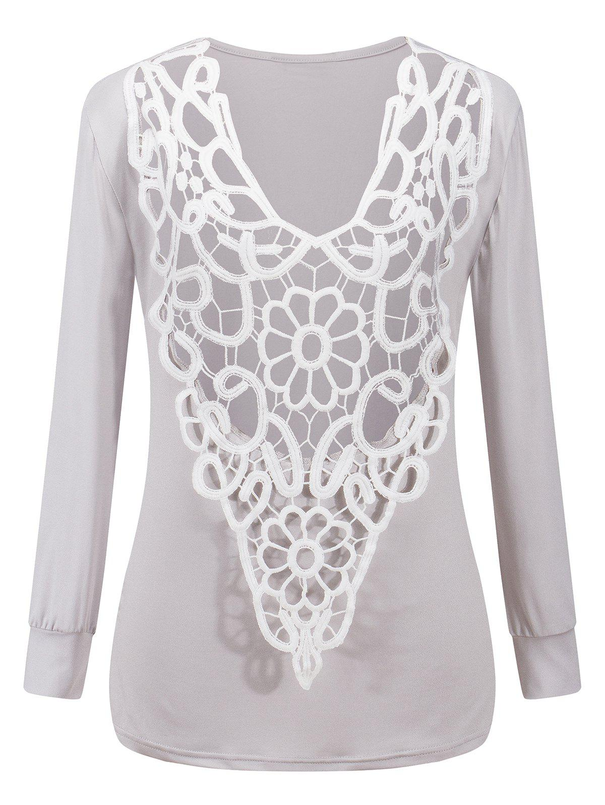 Online Two-Sides Wear See Through Crochet Top