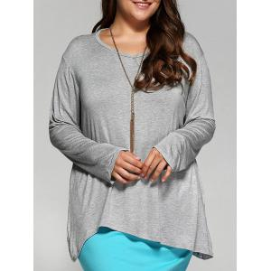 Loose Asymmetric Long T-Shirt
