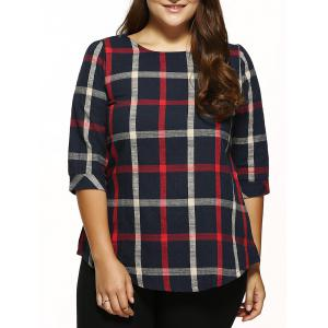 Plaid Checked Loose T-Shirt