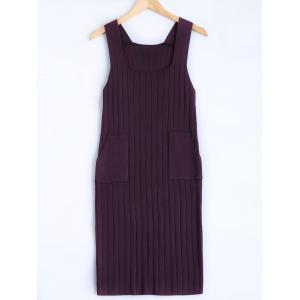 Square Collar Tank Sweater Dress