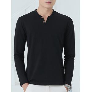 Brief Style Long Sleeve Henley Shirt