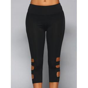 Elastic Waist Cut Out Skinny Pants
