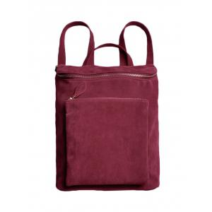 Leisure Suede Zips Backpack
