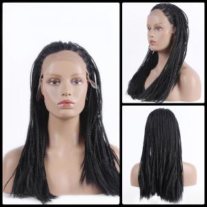 Gorgeous Long Micro Braided Synthetic Lace Front Wig