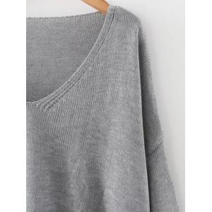 Drop Shoulder Oversized Sweater -