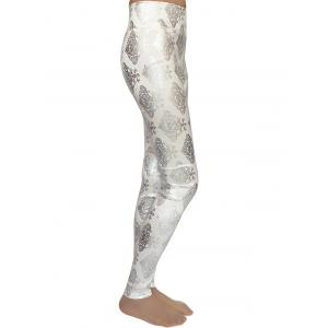 Metallic Ornement imprimé Skinny taille haute Leggings -