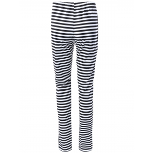 Elastic Waist Striped Fitting Casual Pants -