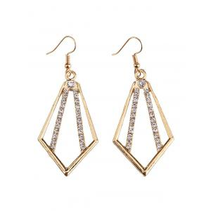 Rhinestone Alloy Geometric Necklace and Earrings - GOLDEN