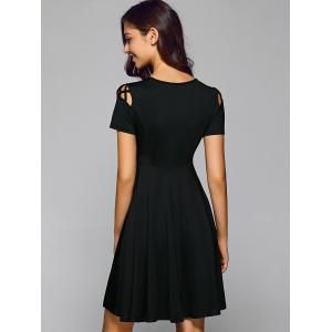 Pleated Cut Out A Line Dress -