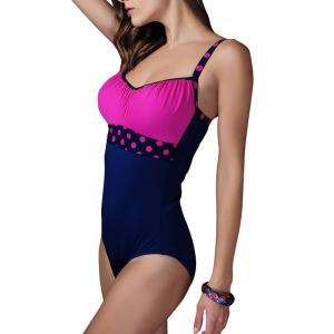 Polka Dot Ruched Hollow Out Swimwear -