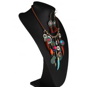 Coins Floral Key Beaded Jewelry Set - COLORMIX