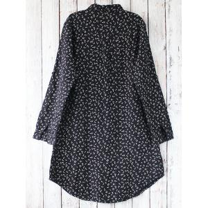 Allover Print Shirt Dress -