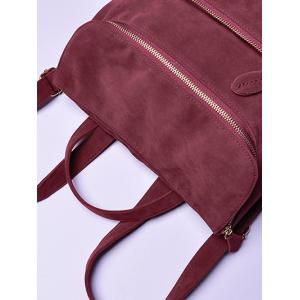 Loisirs Suede Zips Backpack - Rouge vineux