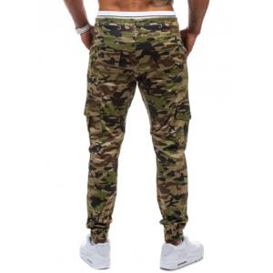 Multi-Pockets Camo Print Army Jogger Pants -