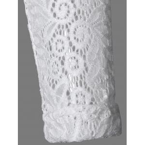 Lace Splicing Hollow Out Dress -