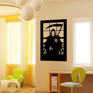 Imp Halloween Removable Waterproof Room Background Vinyl Wall Sticker - BLACK