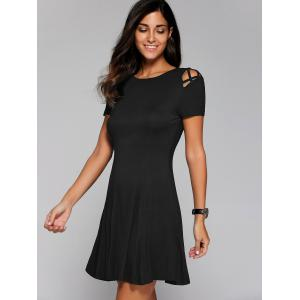 Hollow Out Pleated Dress -