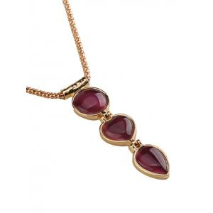 Faux Ruby Alloy Heart Jewelry Set -