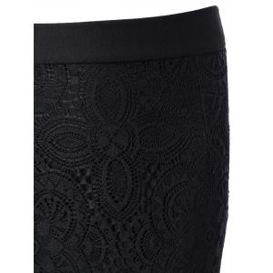 Bodycon Lace Spliced Skirt -