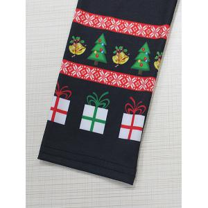 Printed Christmas T-Shirt - BLACK XL
