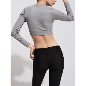 Sporty Long Sleeve Cropped T-Shirt -