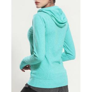 Quick Dry Hooded Sporty Coat - MINT GREEN L
