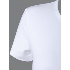 Casual Round Neck Short Sleeve Solid Color Tee -