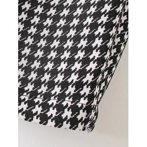Houndstooth Patterned Tapered Pants - WHITE/BLACK XL
