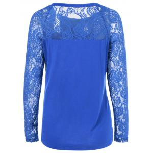 Lace Splicing Long Sleeves Blouse -
