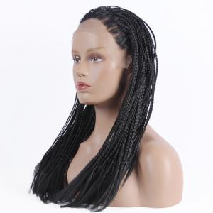 Gorgeous Long Micro Braided Synthetic Lace Front Wig - BLACK