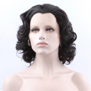 Endearing Short Curly Lace Front Synthetic Wig - BLACK