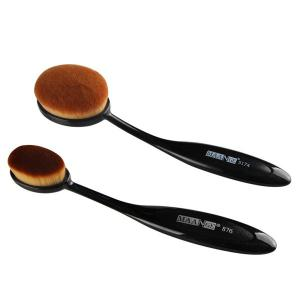 2 Pcs/Set Oval Toothbrush Shape Blush Powder Brush + Foundation Brush -